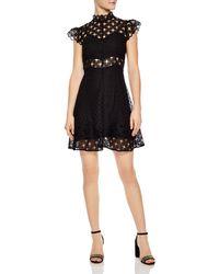 Sandro - Jannie Lace A-line Mini Dress - Lyst