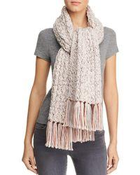 Aqua - Chunky Rib-knit Scarf - Lyst