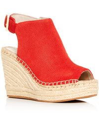 4c9bbe6aa2d Kenneth Cole - Women s Olivia Perforated Platform Wedge Espadrille Sandals  - Lyst