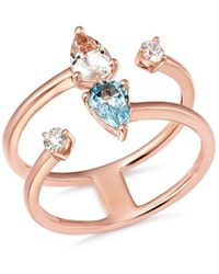 Bloomingdale's - Morganite & Diamond Ring In 14k Rose Gold - Lyst