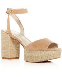 Kenneth Cole - Women's Phoenix Suede High Block Heel Platform Sandals - Lyst