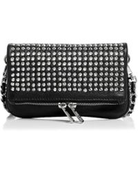 Zadig & Voltaire - Rock Nano Spike Mini Leather Crossbody Clutch - Lyst
