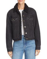 Pistola - Tori Sherpa Fleece-lined Denim Jacket - Lyst