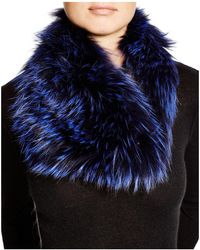 Badgley Mischka - Fox Fur Infinity Scarf - Lyst