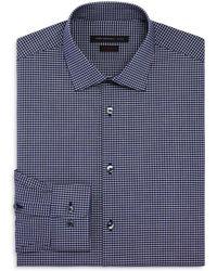 John Varvatos - Micro Check Slim Fit Stretch Dress Shirt - Lyst
