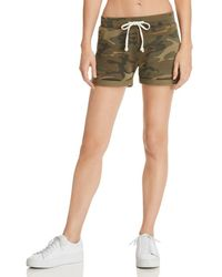Alternative Apparel - Camo Drawstring Shorts - Lyst