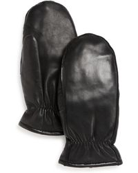 Fownes - Leather Mittens - Lyst