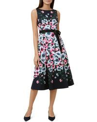 Hobbs - Sissinghurst Floral Print Midi Dress - Lyst