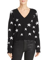 Honey Punch - Star Distressed Cropped Jumper - Lyst