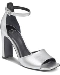 Marc Fisher - Women's Harlin Leather High Heel Ankle Strap Sandals - Lyst