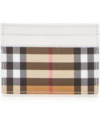 Burberry - Sandon Vintage Check Leather Card Case - Lyst