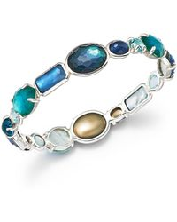 Ippolita - Sterling Silver Rock Candy® Wonderland All Stone Bangle In Merino - Lyst