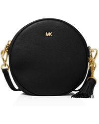MICHAEL Michael Kors - Medium Leather Circle Crossbody - Lyst