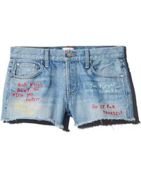 Alice + Olivia - Alice + Olivia Amazing Embroidered Denim Shorts In Be Nice - Lyst