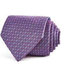 Turnbull & Asser - Geometric Floral Squares Neat Classic Tie - Lyst