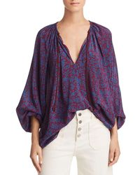 Elizabeth and James - Chance Printed Silk Top - Lyst