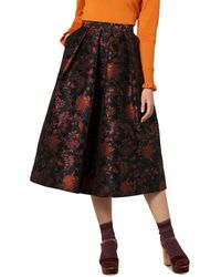 L.K.Bennett - Delysia Floral Jacquard Midi Skirt - Lyst