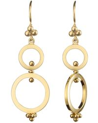 Temple St. Clair - 18k Yellow Gold Double Ring Earrings - Lyst
