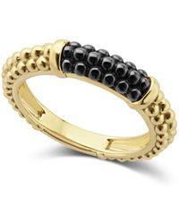 Lagos - Gold & Black Caviar Collection 18k Gold & Ceramic Ring - Lyst