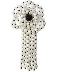Carolee - Cultured Freshwater Pearl Floral Pin - Lyst