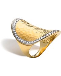 John Hardy | Palu 18k Gold & Diamond Pavé Oval Saddle Ring | Lyst
