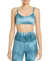 Beyond Yoga Olympus Tie - Dye Sports Bra - Blue
