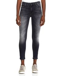 Mother - Looker High-rise Ankle Skinny Jeans In Leave The Light On - Lyst