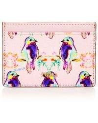 Furla - Babylon Bird Print Small Embossed Leather Card Case - Lyst