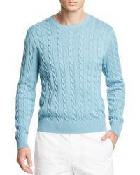 Brooks Brothers - Supima Cotton Cable Crewneck Sweater - Lyst