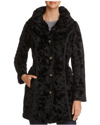 Laundry by Shelli Segal - Reversible Faux Shearling & Puffer Coat - Lyst