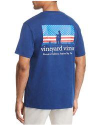 Vineyard Vines - Fishing American Flag Tee - Lyst