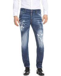 DSquared² - Slim Fit Jeans In Medium Wash - Lyst