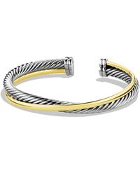 David Yurman - Crossover Cuff With Gold - Lyst