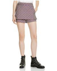 Maje - Irosa Printed Shorts - Lyst