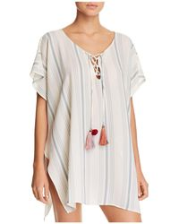 Surf Gypsy - Striped Tunic Swim Cover-up - Lyst