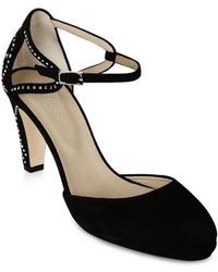 Hobbs - Women's Orla Studded Suede D'orsay Court Pumps - Lyst
