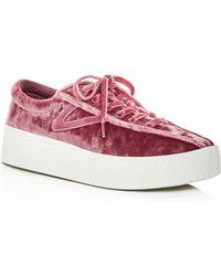 Tretorn - Women's Nylite Bold Velvet Lace Up Sneakers - Lyst