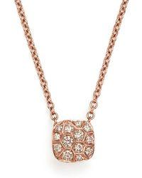 Pomellato - Nudo Necklace With Diamonds In 18k Rose & White Gold - Lyst
