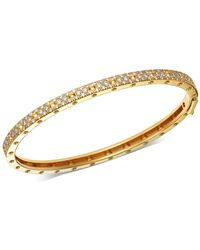 Roberto Coin - 18k Yellow Gold Symphony Pois Moi Diamond Hinged Bangle Bracelet - Lyst
