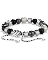 David Yurman - Dy Elements Bracelet With Black Onyx And Hematine - Lyst