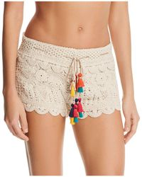 Surf Gypsy - Tassel-detail Crochet Shorts - Lyst
