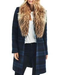 Sam. - Crosby Wool Coat With Fur Trim - Lyst