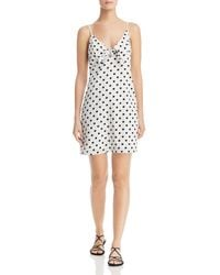 Re:named - Polka Dot Tie-detail Mini Dress - Lyst