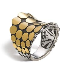 John Hardy - Dot Gold & Silver Saddle Ring - Lyst