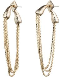 Alexis Bittar - Chain Loop Drop Earrings - Lyst