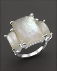 Ippolita - Sterling Silver Rock Candy 3-stone Prong Set Ring In Mother-of-pearl - Lyst