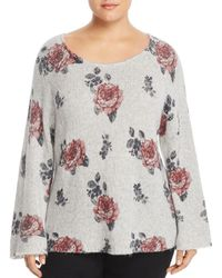 Lucky Brand - Plus Size Floral Print Pullover - Lyst