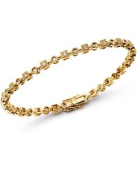 KC Designs - 14k Yellow Gold Geometric Diamond Link Bracelet - Lyst