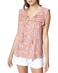 Sanctuary - Wild Belle Embroidered Print Tank - Lyst