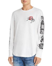 True Religion - Long-sleeve Branded Graphic Tee - Lyst